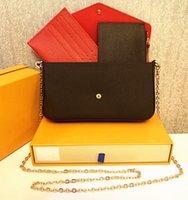 LUFENGLIU Frau Tasche Handtasche Geldbörse Original Box Datum Code Mode Großhandel Checker Plaid Blume