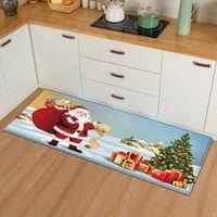 Carpets Christmas Kitchen Mat Bedroom Entrance Doormat 3D Pattern Home Floor Decoration Living Room Carpet Bathroom Non-Slip Rug