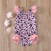 One-Pieces TELOTUNY Swimwear Summer Baby Kids Girls Cute Leopard Print Ruffles One Piece Swimsuit Bikini Beach Wear Bathing Suit
