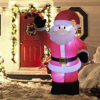 كبير نفخ سانتا كلوز في حديقة عيد الميلاد أدى ضوء الليل 4ft 120 سنتيمتر آثار للديكور اللعب 210910
