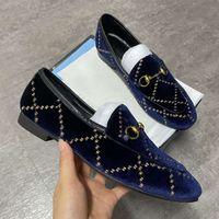 مصمم أحذية الفراء البغال النعال 100٪ حقيقي جلد الغزال المتسكعون الرجال النساء مزدوجة سلسلة معدنية النعال النمر الأفعى عارضة الأحذية SZ 5-12