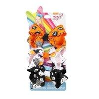 3pcs / card Halloween Jojo Siwa Capelli archi Set Pumpkin Spider Web Cartoon Hairpin clips festa di compleanno a tema nastro arco barrettes copricapo capelli accessori per capelliG88eynp