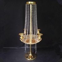 Party Decoration Exquisite Wedding Decorative Tall Glass Candle Holder Crystal Stand