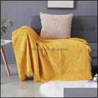 Chair Sashes Textiles Home & Gardenchair Ers Sectional Loveset Couch For Living Room Stretch Slip Er Yellow White Grey Throw Blanket Bed Tra