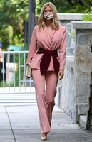 Blush Pink 2021 Mother of the Bride Dresses Pant Suits Two Pieces Slim Fit Evening Party Prom Blazer OL Outfit Women Tuxedos (Jacket+Pants)