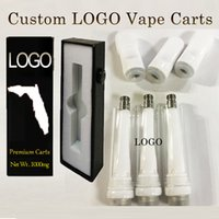 Customized Vapes Cartridges Atomizers 1.0ml 0.8ml 0.5ml Custom Empty Vape Pen Vaporizers Ceramic Atomizers Childproof Packaging Boxes E-cigarette OEM Logo Stickers