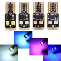 2 unids T10 W5W Decodificación no polar 6 Crystal 3030 LED pequeña lámpara de lectura Luz de puerta de luz
