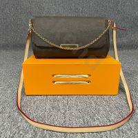 2021 هايت الجودة الفمز الكتف حقيبة مصممين المتشرد حمل الشهيرة أزياء حقيقية جلدية حقيبة يد المرأة m40718 المفضلة محفظة mm الحقيقي crossbody