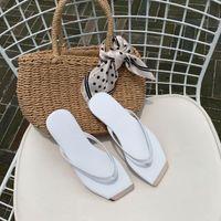 Flat Shoes Female Ladies' Slippers Rubber Flip Flops Slipers Women Luxury Slides Hawaiian 2021 Designer Fabric Rome Fashion PU
