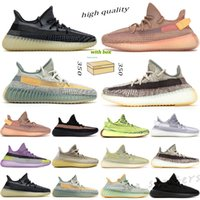 Adidas Yeezy BOOST 350 V2 Kanye West 2021 with box Static Refective Sesame Butter Semi Casual Running Shoes Cream Yellow White Frozen Bred Zebra Black Men Women 36-47 RG01