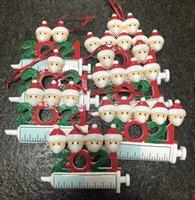 DHL 2021 Decorazione natalizia e quarantena Series Serie 1-7 Head FAI DA TE Pendente ad albero Accessori con corda Resina Party Toys Forniture in ChristMass Toy