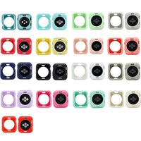 Jelly Candy Solid Color Soft TPU Silicone Protective Cover Case For Apple Watch iWatch series 6 5 4 3 2 44mm 42mm 40mm 38mm