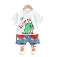 Summer Born Baby Boys Girls Clothes Suit Children Cotton T-Shirt Shorts 2Pcs Sets Toddler Fashion Costume Kids Tracksuits Clothing Sets