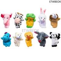 Fluwelen schattige dierlijke vingerpoppen voor kinderen, shows, speeltijd, scholen - 10 stuks dieren / set