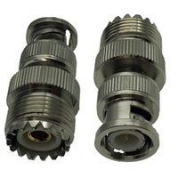 BNC-Stecker an UHF-Buchse RF-Koaxialkoax-Anschlüsse, BNC M-männlich in SO-239 SO239 F-weibliche Umwandlung kann für zweiwege Radio Walkie-Talkie-Antenne-Adapter 2-Packungen verwendet werden