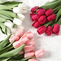 Decorative Flowers & Wreaths 35cm Artificial Feel Tulip For Home Decor Simulation Fake Flower Wedding Table Decoration Accessories