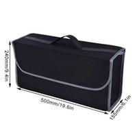 Carro do tronco do carro Carro macio de feltro de suaves caixa de armazenamento caixa de contentor de carga saco de tronco strowing titular de arrendamento multi-bolso