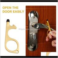 Öffner Anti-Kontakt No Touch Opener Schlüsselanhänger Nonkontakt Türgriff Aufzug Artefakt Keychain ZZC4498 N4UMR RXSXN