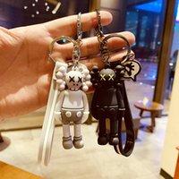 Kaws Puppe Designer Schlüsselring Keychain Mode Sesam Straße Schlüsselanhänger Zubehör PVC Action Figuren Spielzeug Tasche Charms Auto Keyringe Inhaber