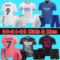 Erkekler Çocuklar 20 21 22 Gerçek Madrid Futbol Formaları Tehlike Sergio Ramos Benzema Camiseta De Futbol 2021 Vinicius Jr İnsan Yarışı Futbol Gömlek