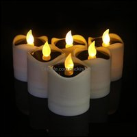 Décor Home & Garden1Pc Solar Led Candles, Flameless Candles Waterproof Candle Lights For Outdoor Wedding Christmas Halloween Party Decor Dro