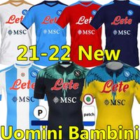 21/22 Napoli Soccer Jersey Nápoles Camisa de Futebol 2021 2022 Quarto Osimhen Koulibaly Insigne Maradona Mastens Matteo Politano Lozano Camisa Homens Kit Kit uniformes