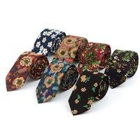 Sitonjwly 6 سنتيمتر ضيق الرقبة التعادل الرجال منقوشة ربطة العنق عارضة دعوى bowknots العلاقات الذكور القطن الأعمال نحيل ضئيلة شعار مخصص