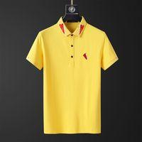 Erkek T-Shirt Avrupa Amerikan Moda Marka Kalite Polo Mektubu İşlemeli Kısa Kollu Rahat Ve Iş Çift Yaka Gömlek Ceket Özel 21YZ