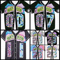 Frauen Baseball Jersey 90er Jahre Hip Hop Bel Air 23 24 00 07 11 12 13 30 42 88 99 Neue rot multi gold braun