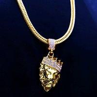 Street Diamond Lion Head Hip Hop Trendsetter Necklace Men's Hiphop Pendant Jewelry
