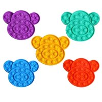 Push Popit Bubble Fidget Sensory Toy Monkey Dog Stress Reliever Relief s Anxiety H39ih43