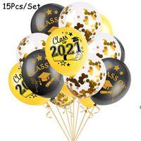 Buona fortuna Laureato Palloncini Palloncini Forniture per feste Laurea Cerimonia Decorazioni Doctor Hat Helium Ballon Diploma Globos 12 pollici DHC7379