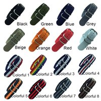 18mm 20mm 22mm 24mm Army Sports Watch Nato Strap Fabric Nylon Watchband Belt for 007 James Bond Watch Bands Colorful Rainbow
