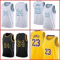 Lebron 23 6 James Basketbol Formaları Alex 4 Caruso Green Los Mens Angeles Bryant Erkekler Kids Black Mamba Anthony 3 Davis Kyle 0 KUZMA 34 8 32 STOK S-XXL Jersey Sarı