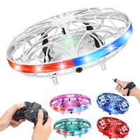 Small helicopter, RC UFO children, remote control UAV, hand-held sensor, electric induction tetraphylla, children's toys