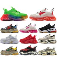 Fashion Men Women Outdoor Shoes Designers Triple S Trainer Platform Paris 17FW Old Dad Large Increasing Boots Sneakers Sports With Original size 36-45