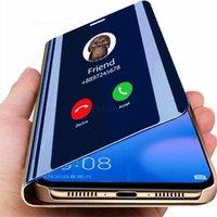 Samsung Galaxy S21 S20 S10 S9 S8 Plus S6 S7 가장자리 A6 A8 J3 J5 J7 A5 A3 A7 커버 용 스마트 미러 전화 케이스