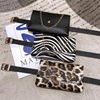 Luxurys Designers Bags 2021 women's belt waist chain Handbags detachable leopard pattern versatile Handbag Single Shoulder Bag Mini multi function Packs Purse