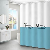Shower Curtains Cute Cartoon Curtain Animal Polyester Waterproof Frosted Thicken Cortina Ducha Accessories DE50YL