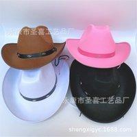 남자와 여자의 wtern 성인 5 네일 cowboy 모자 일회성 큰 ee 어린이 polyter 펠트 모자를 형성