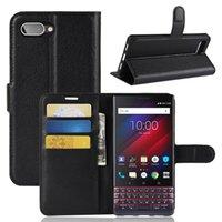 Adatto per BlackBerry Key2 Le Litchi Scheda Inserire Custodia in pelle per cellulare Custodia in pelle Silicone Key2 Lite Case protettiva