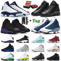 Sapato Nike Air Jordan Retro 13 Jordans Tênis de basquete masculino feminino Jumpman 13S Dark Powder Blue Court Purple Reverse Bred XIII Red Flint Black Cat Tênis esportivos