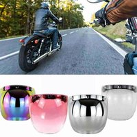 Motorcycle Helmets Helmet Bubble Visor Mirror Frame Genuine General Vintage Anti Lens Fog Retro With S2M5