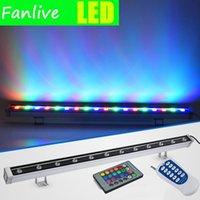10ピースRGB LEDの洪水屋外スポットライトリニア防水建物の壁の照明洗濯機の風景110V 220V 12V 24Vの投光照明