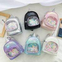 Rucksäcke Kinder Taschen Bookbag Mädchen Accessoires Unicorn Pailletten Mode Cartoon Kinder B4815