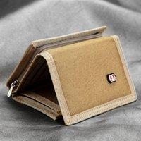 Coréen Canvas Mens Zipper Boy sac Multifonctionnel Classic Explosion Portefeuille Teen Card Porte-monnaie