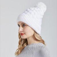 Women Baby Kids Crochet Knitted Hat Caps Children Girl Boy Wool Fur Bobble Ball Pompom Beanies Hats