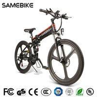 [AB Stok] SAMEBIKE LO26 500 W Bisiklet Elektrikli Bisiklet 26 inç 21 Hız Katlanabilir 48 V 10.4Ah 30 KM / H Maksimum Hızlar Ebike MTB Bisiklet Dağ Bisikletleri