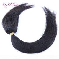 Оплетка в связках нет шить человеческие волосы человеческие волосы с закрытием бразильских волос девственных волос человеческие волосы пакеты волос 3 шт. Одна головка Dropshipping