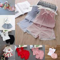 New Summer Baby Girl Roupas Cute Cute Floral das Crianças das Crianças Meninas Tops + Shorts 2 conjuntos para crianças roupas para meninas 1141 y2